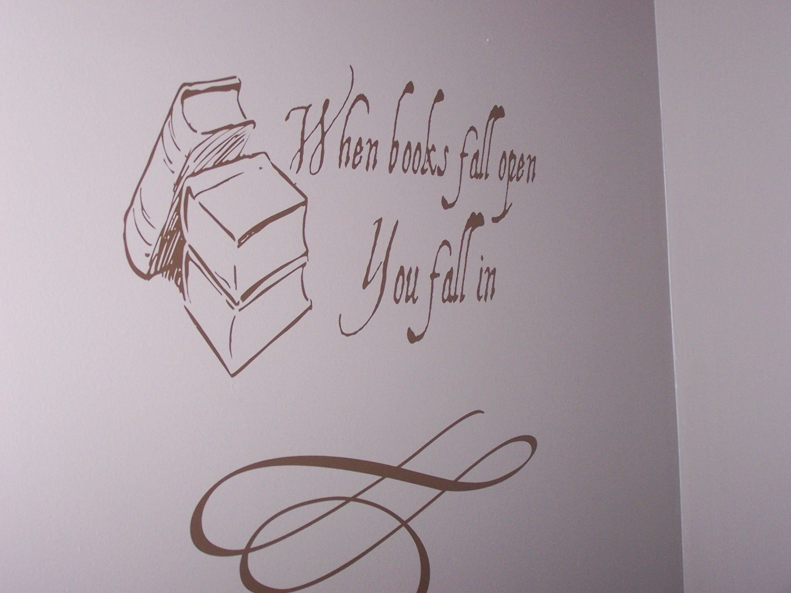 Books Fall Open Wall Decal Reading Nooks Wall Decals And Walls - Vinyl wall decals books