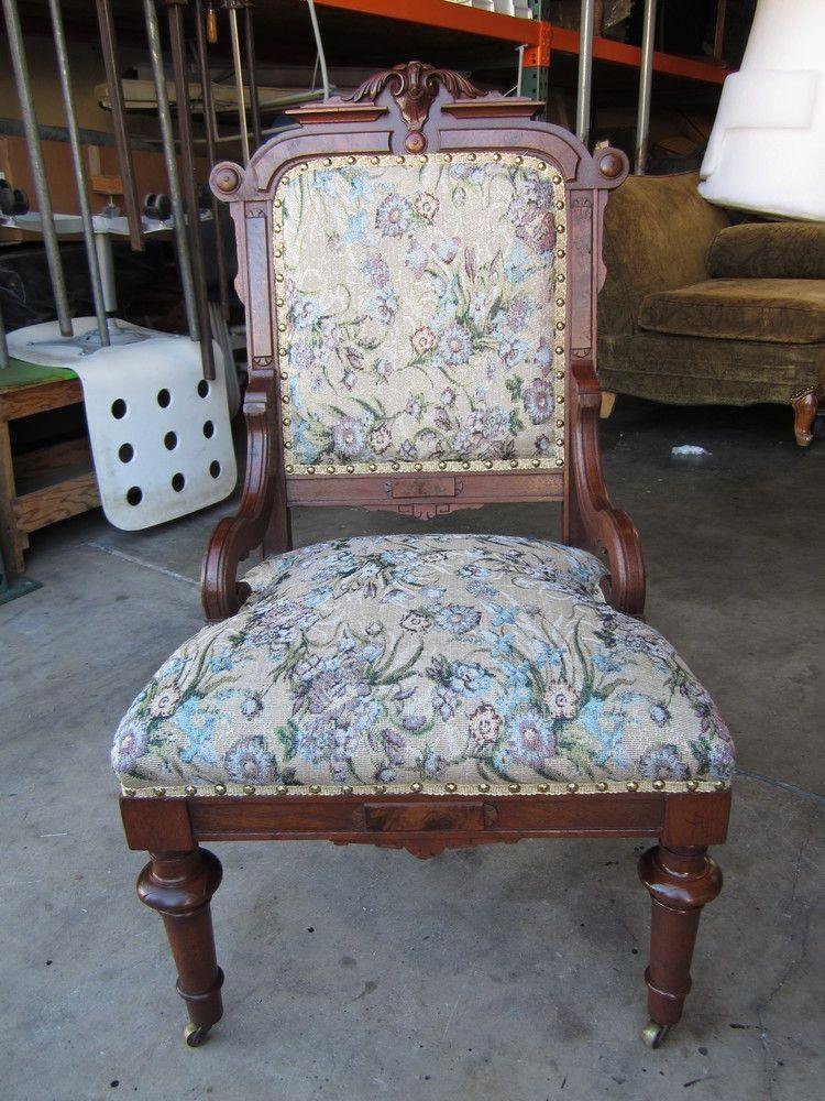 Refinishing an Eastlake chair