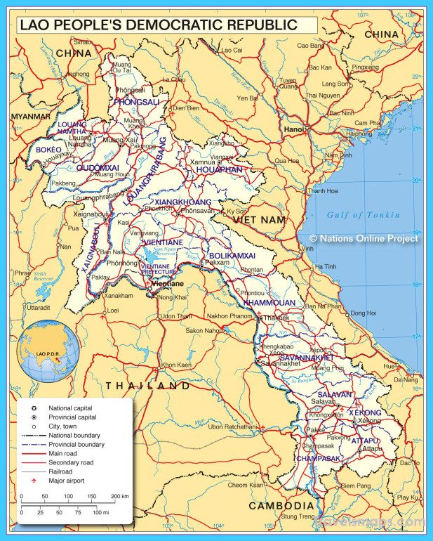 Awesome Map Of Laos Map Of Laos Asia Map Laos