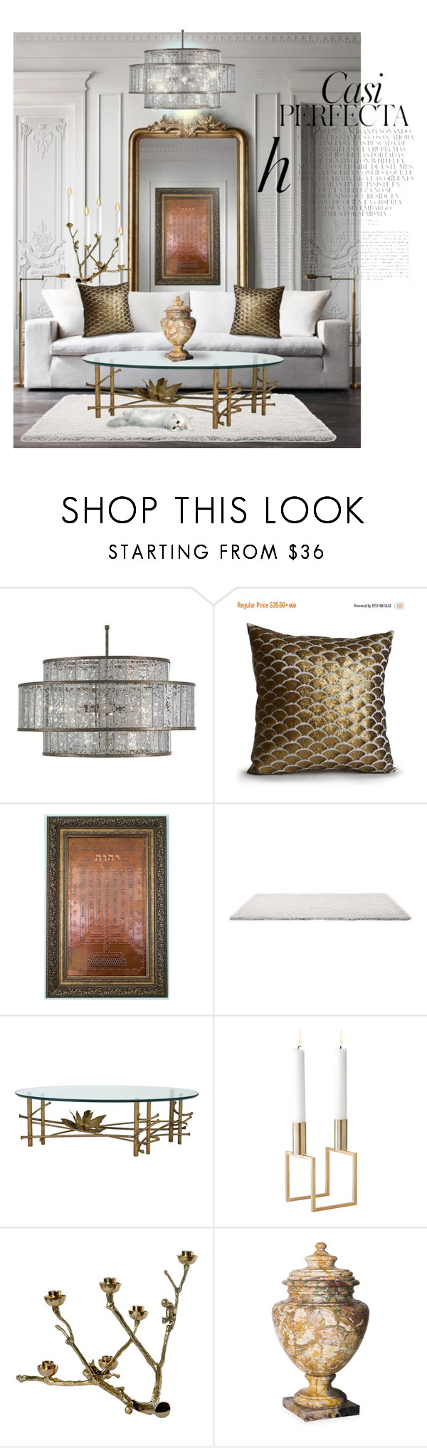 """""""Currey & Company/Lighting Series 2017"""" by neicy-i ❤ liked on Polyvore featuring interior, interiors, interior design, home, home decor, interior decorating, Currey & Company, C. Jeré, Whiteley and Pols Potten"""