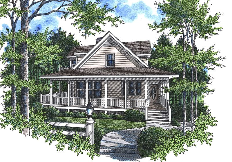 The Pioneer Point Lowcountry Home Has 3 Bedrooms And 2 Full Baths See Amenities For Plan 052d 0105 Beach House Plan House Plans House Plans And More