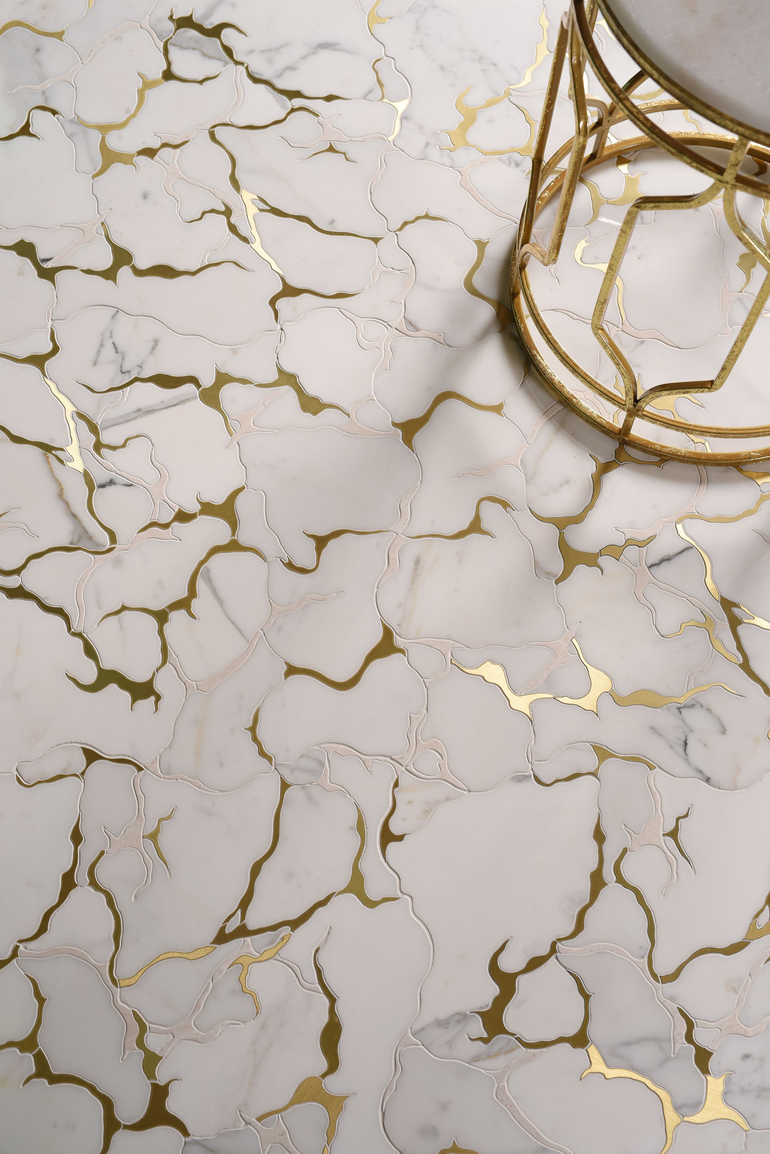 Gold Veined Marble Mosaic Floor Tile Marble Mosaic Floor Marble Tile Floor Mosaic Floor Tile