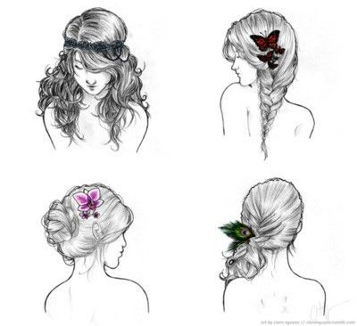 Hairstyles Illustrations And Graphics Hair Styles How To Draw Hair Hair Makeup