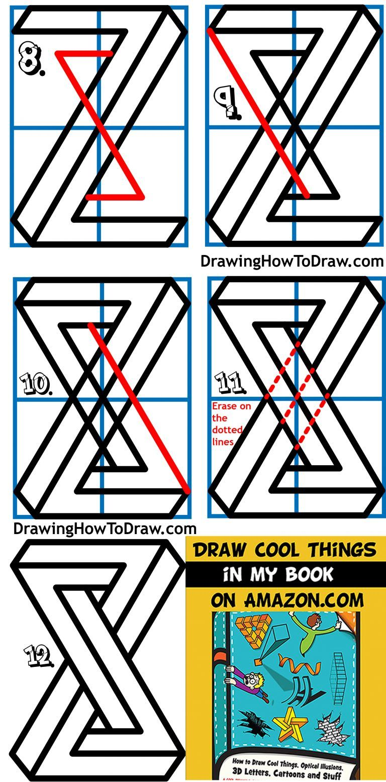 How To Draw A Cool Impossible Shape Escher Infinity Shape Easy