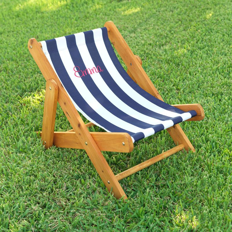 Kid Sized Sling Chair So Cute And Love The Rugby Stripes