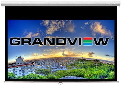 Grandview Cyber Series 92 16 9 Manual Pull Down Amazon Co Uk Electronics Projector Screen Grandview Pull Down Projector Screen