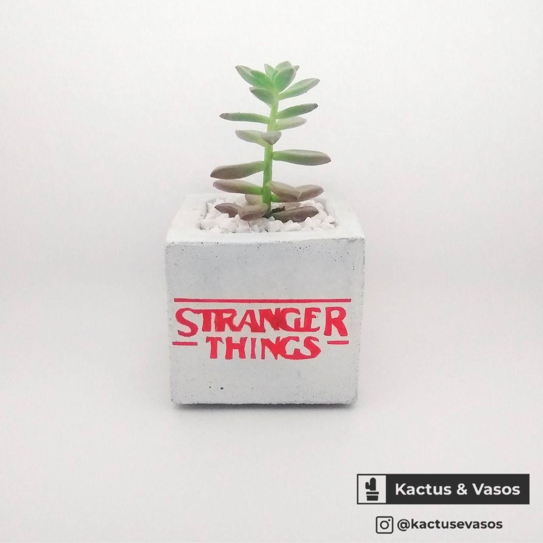 Vaso Stranger Things Stranger Things Planter Pots Decor Stranger things bathroom decor
