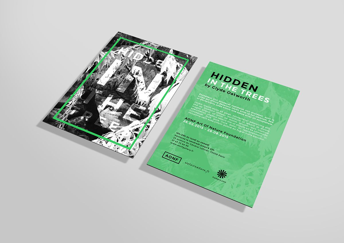 FREE PSD Flyer Mockup - Hidden in the trees | Flyers | Pinterest