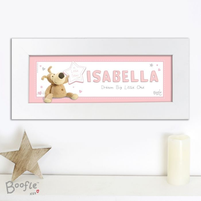 Our personalised boofle name frame will look the part hung in any explore personalised baby gifts name frame and more negle Images