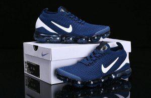 reputable site 7ff6f 6d56e Nike Air Vapormax Flyknit 2019 Navy Blue White AJ6900-400 Women s Men s  Running Shoes