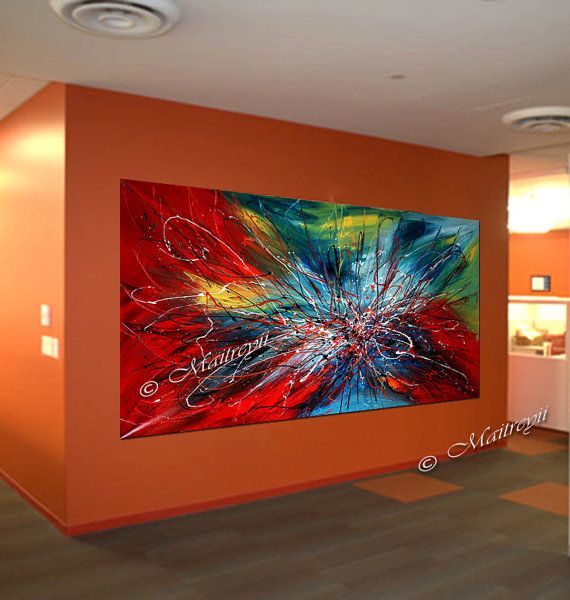 modern abstract painting colorful acrylic art on canvas by maitreyii made to order bilder