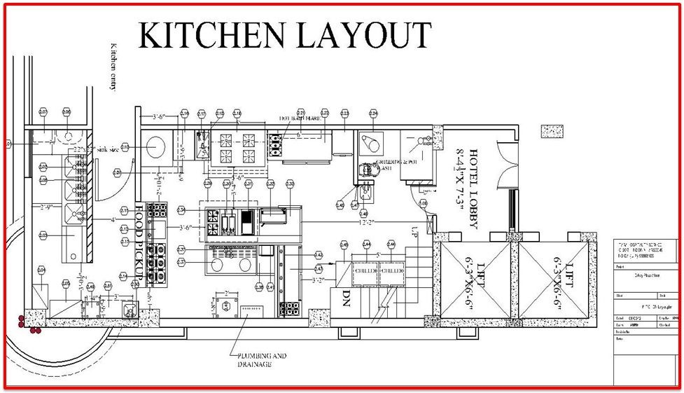 Restaurant Kitchen Plan Dwg restaurant kitchen layout plan | architecture | pinterest