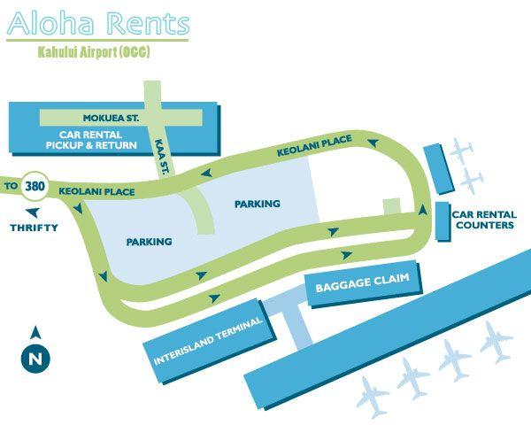 Ogg Airport Map Hawaii Airport Travel Lodge Kahului Airport