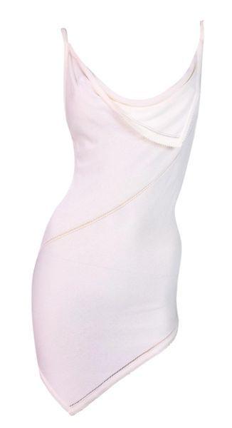 5d31a8445b 2000's Christian Dior John Galliano Sheer Ivory Asymmetrical Micro Mini  Dress