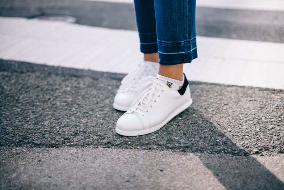 White Leather Sneakers – Gal Meets Glam