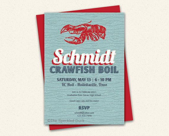 Crawfish Blue Wood  Premium Custom by PolkadotPaperCompany on Etsy, $34.00