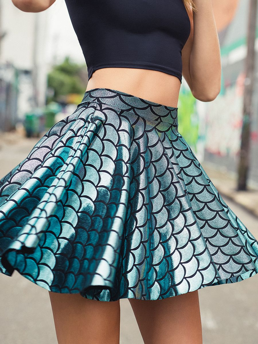 Mermaid Cheerleader Skirt - LIMITED (WW $70AUD / US $56USD) by Black Milk Clothing -- L