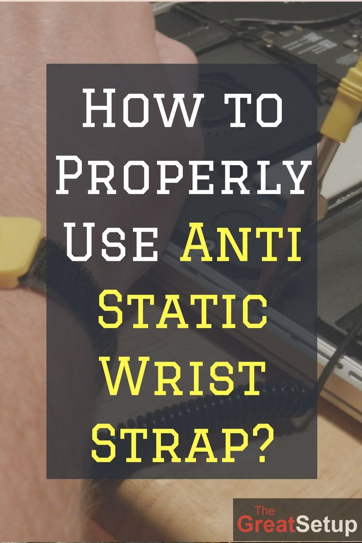Grounding the anti static wrist strap to the power supply