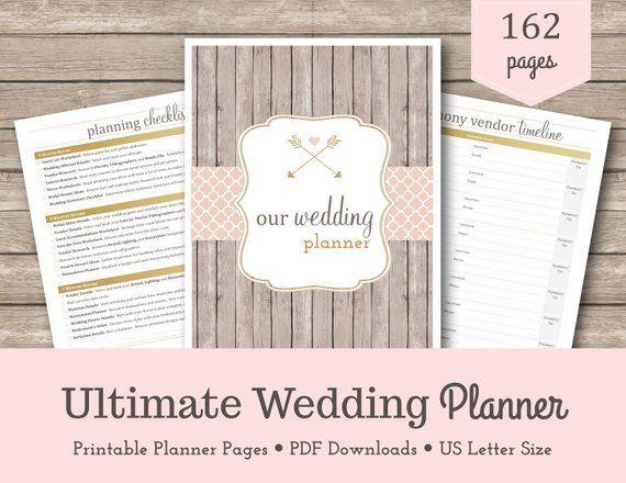 Planificateur de mariage | Livre de mariage | Planification de mariage | Mariage DIY | Kit de mariage | Inserts de planificateur de mariage | Reliure de mariage