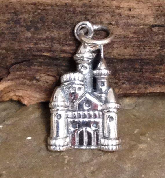 new sterling silver castle charms by oakhillsilversupply on etsy