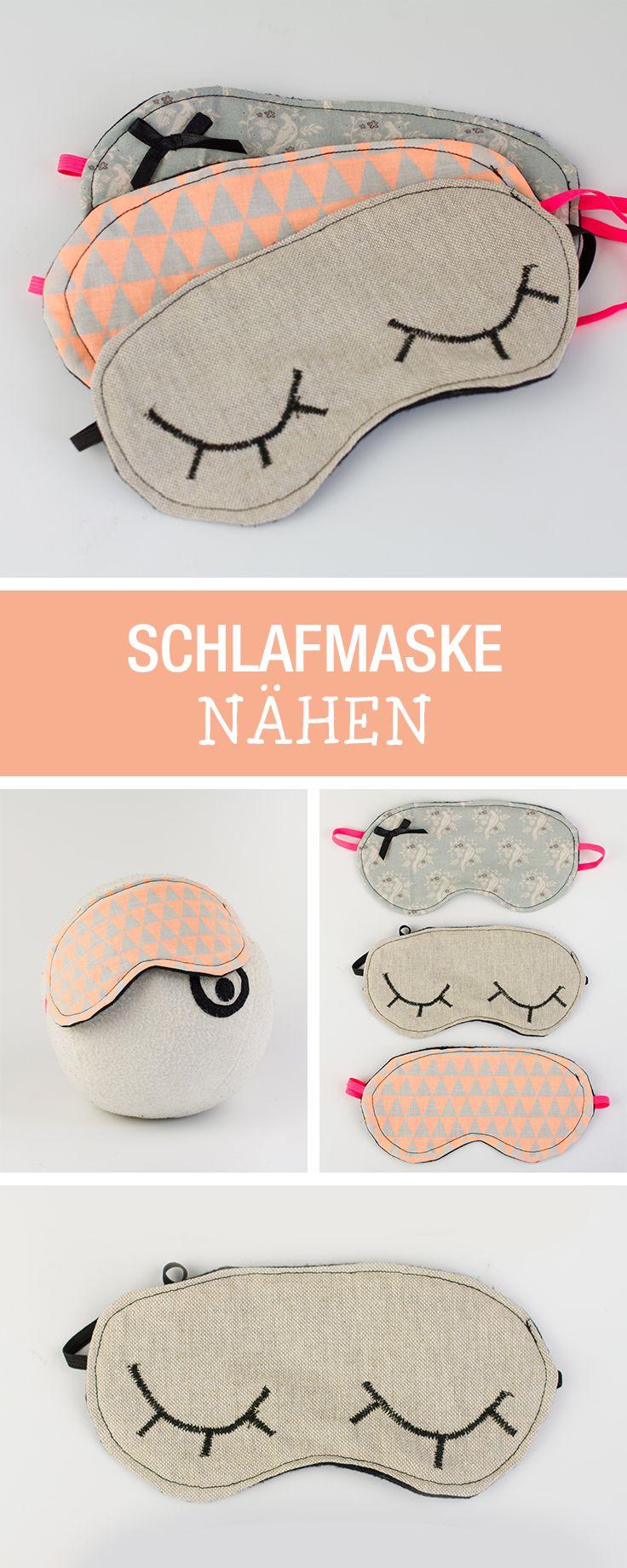 DIYAnleitung Schlafmaske nähen via