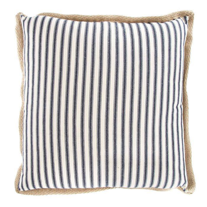 Burlap Trimmed Striped Pillow Pillows Decorative Pillows Hobby Lobby