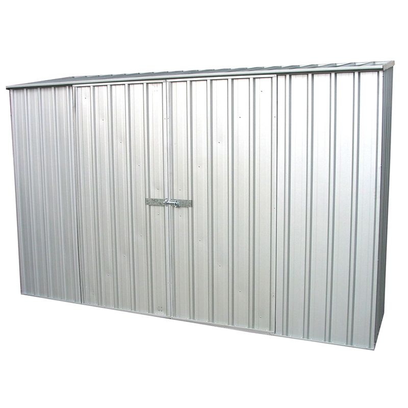 Ezislider Garden Shed X In Zinc Absco Perfect For Under The Eaves Or A Small Backyard