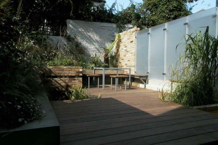 diseo de jardines pequeos con muro de piedra