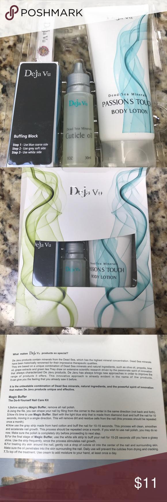 Deja Vu Dead Sea minerals nail kit   Deja vu cosmetics, Nail care ...