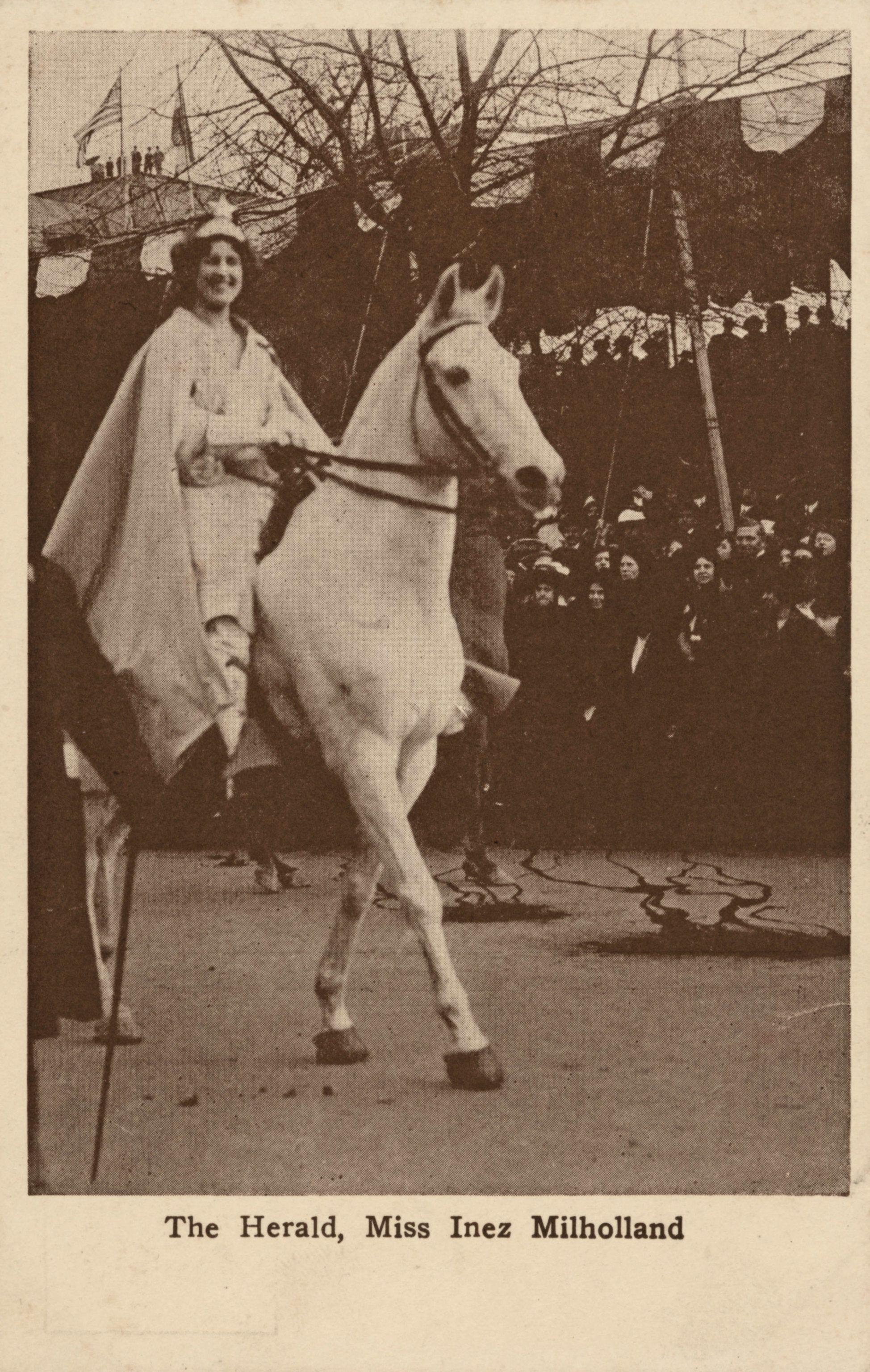 Inez Milholland At The Women S March In 1913 Women In History Suffragette Heroic Women [ 3072 x 1948 Pixel ]