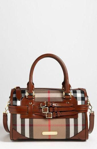 91f66e0b2188 Burberry Check Print Satchel - Lyst  Burberryhandbags  YourPinterestLikes Burberry  Handbags