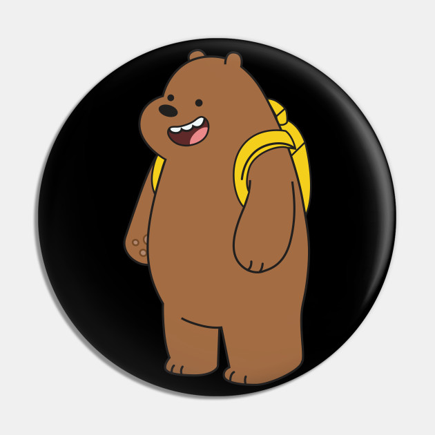 Grizzly We Bare Bears Pin Teepublic Ursos Urso Tema