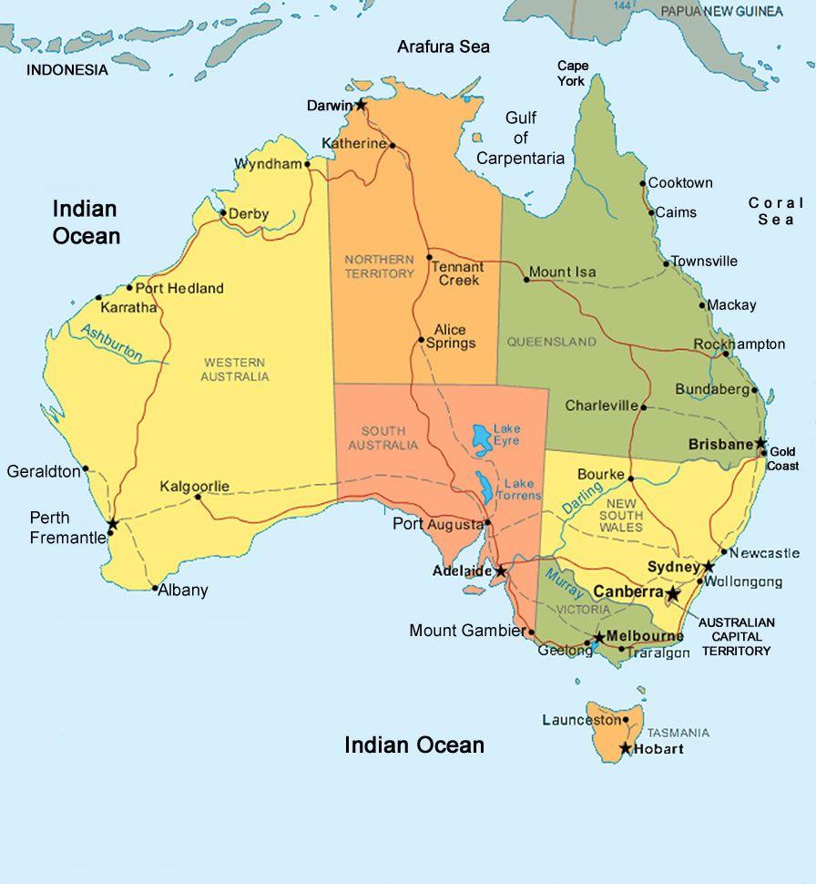 Map Of Australia Tasmania – Australia Map