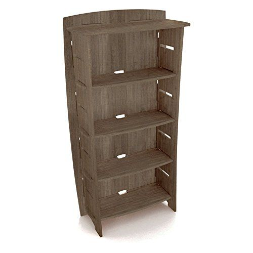 Legare Furniture 59Inch By 31Inch Adjustable FourShelf Bookcase Grey Driftwood To View Further For