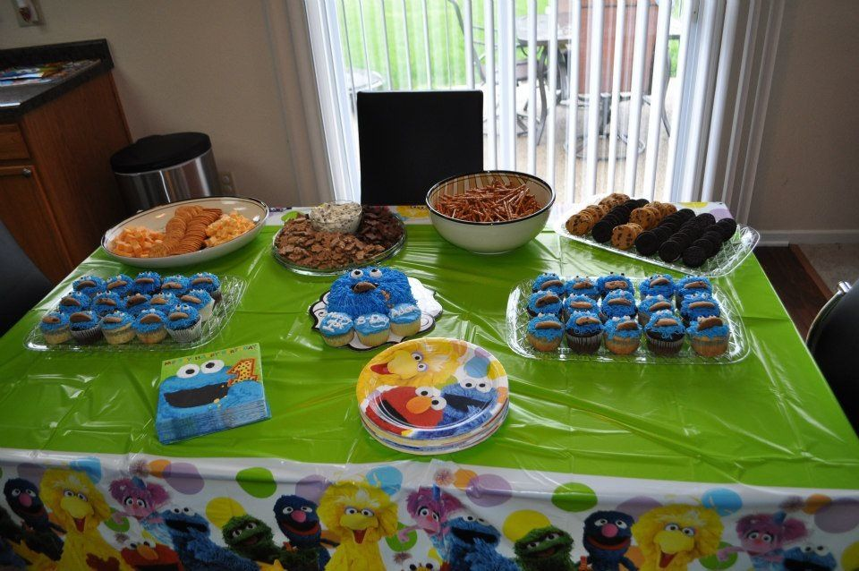 Cookie Monster 1st Birthday Birthday Party Ideas Pinterest