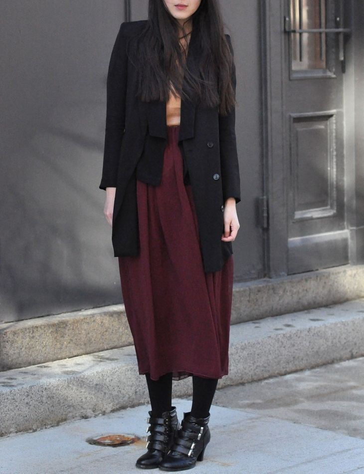 skirts in wine colors. via phosphene.