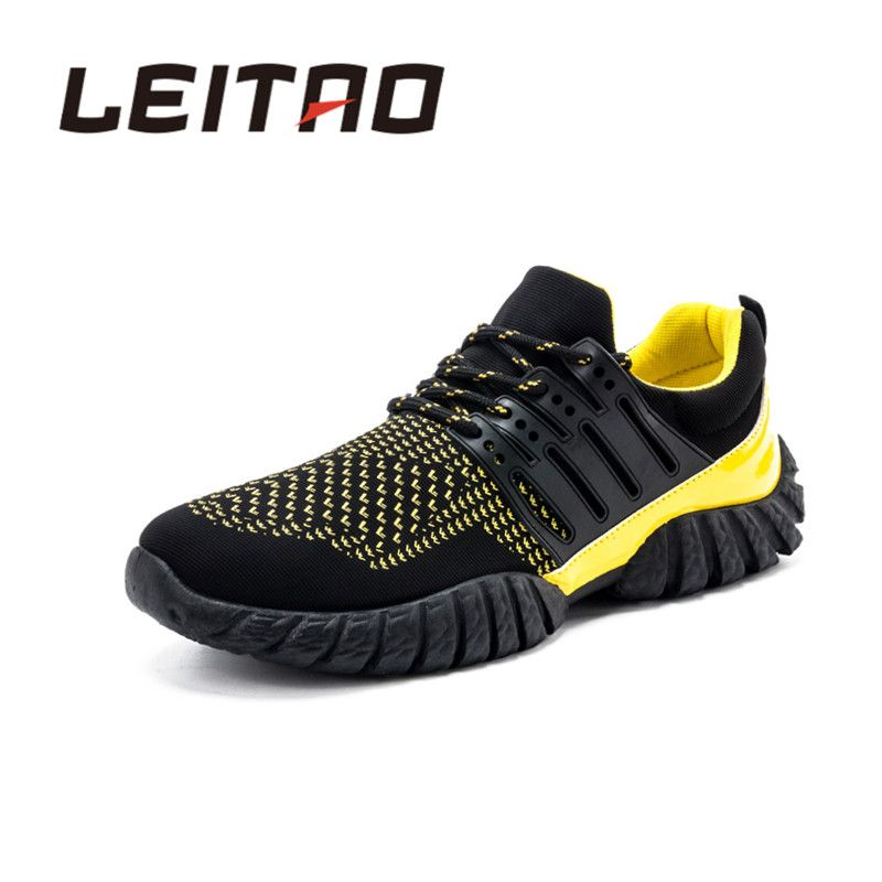 Running Shoes LEITAO New Sneakers Running Shoes For Men Brand Breathable  Mesh Athletic Air Cushion Outdoor