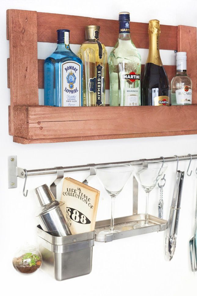Super simple but quite clever booze organizing! VintageStyleLiving ...