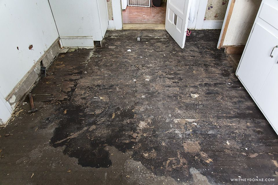 Tar Paper From Wood Floors