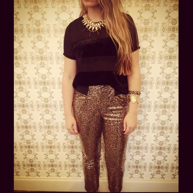 Casual way to wear your sparkles!
