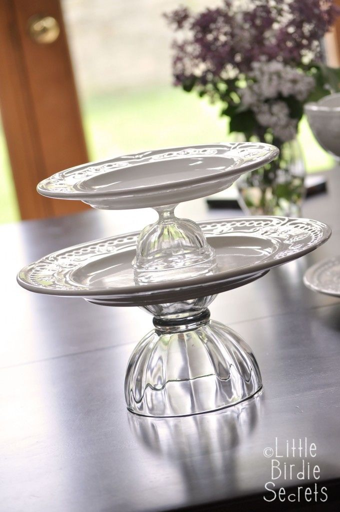 How To Make A Temporary Tiered Serving Plate Serving Plates