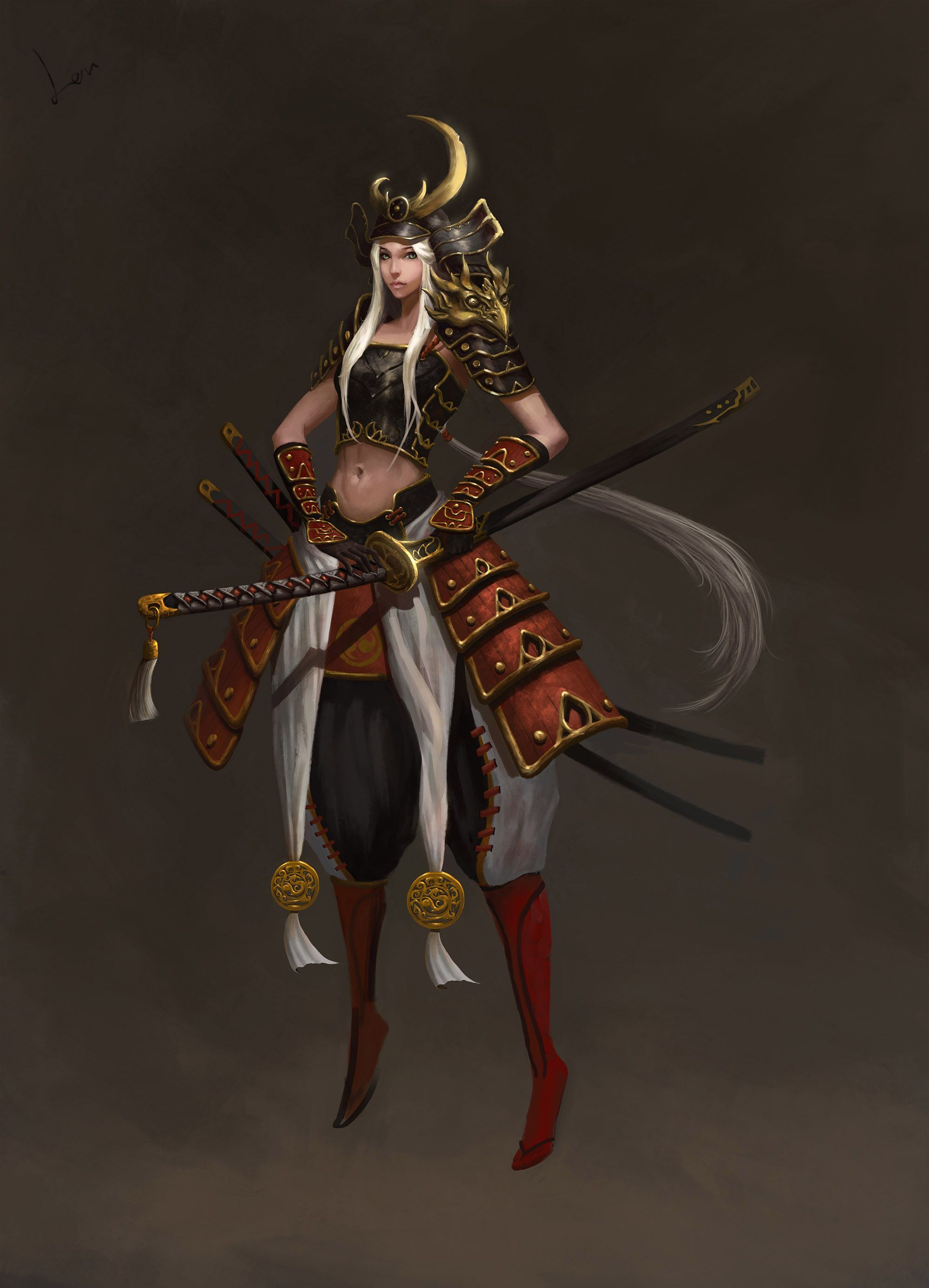 Pin by Moh Elsheikh on 3d Female samurai, Fantasy