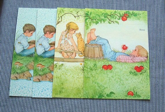 Vintage Country Kids Fold it Notes by sewsewetc on Etsy, $3.00