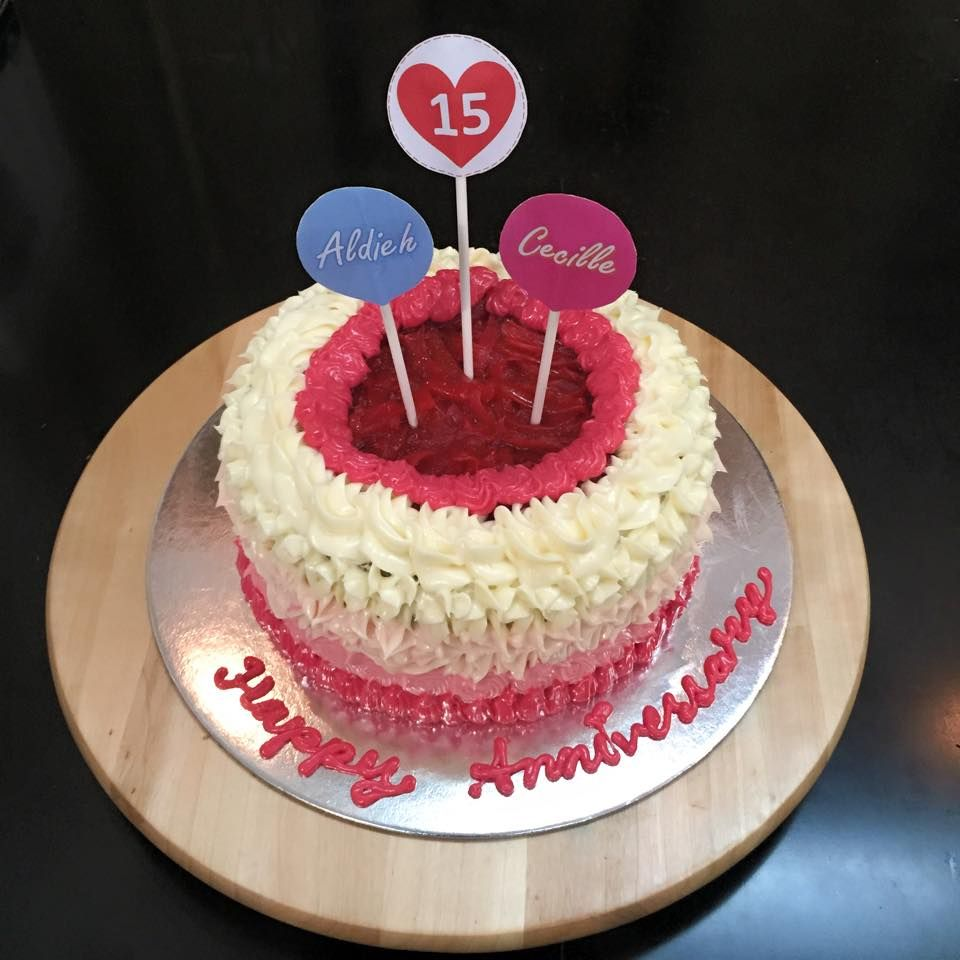 Hy 15th Wedding Anniversary Cake