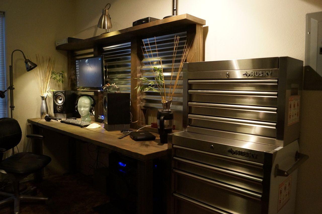 Amazing Diy Workbench Desk Built In Computer Desk Diy House Pdpeps Interior Chair Design Pdpepsorg