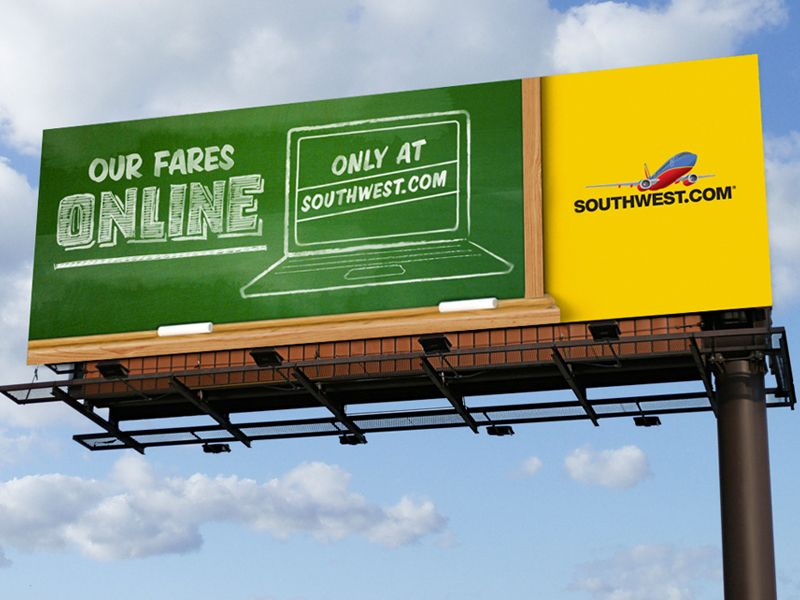 Southwest // Digital Billboard #3 | Awesomeness - Websites, Graphics