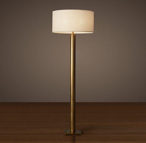 Floor Lighting Rh Modern Floor Lamp Brass Floor Lamp Classic Lighting