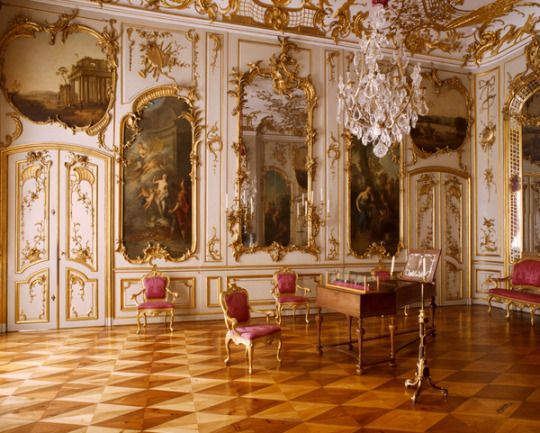 Pure Indulgence Schloss Sanssouci Potsdam Palace Interior Opulent Interiors Baroque Interior