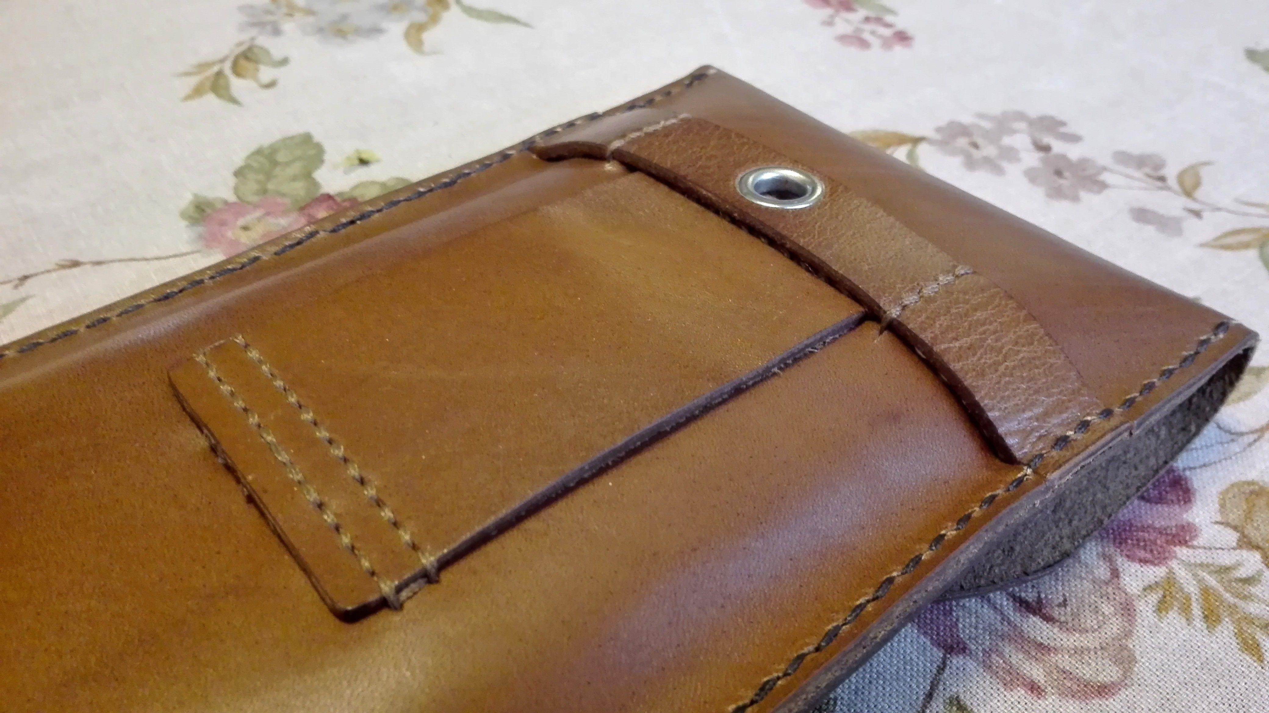 Durable Cowhide Card Pocket Docs Pocket Belt Loop Neck Strap Loop