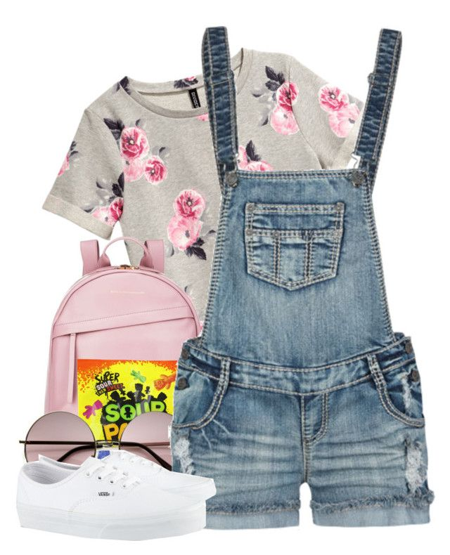 """""""Back to School // Classic"""" by msyorkieluver ❤ liked on Polyvore featuring H&M, Want Les Essentiels de la Vie, Vanilla Star, Vans, BackToSchool, vans and overalls"""